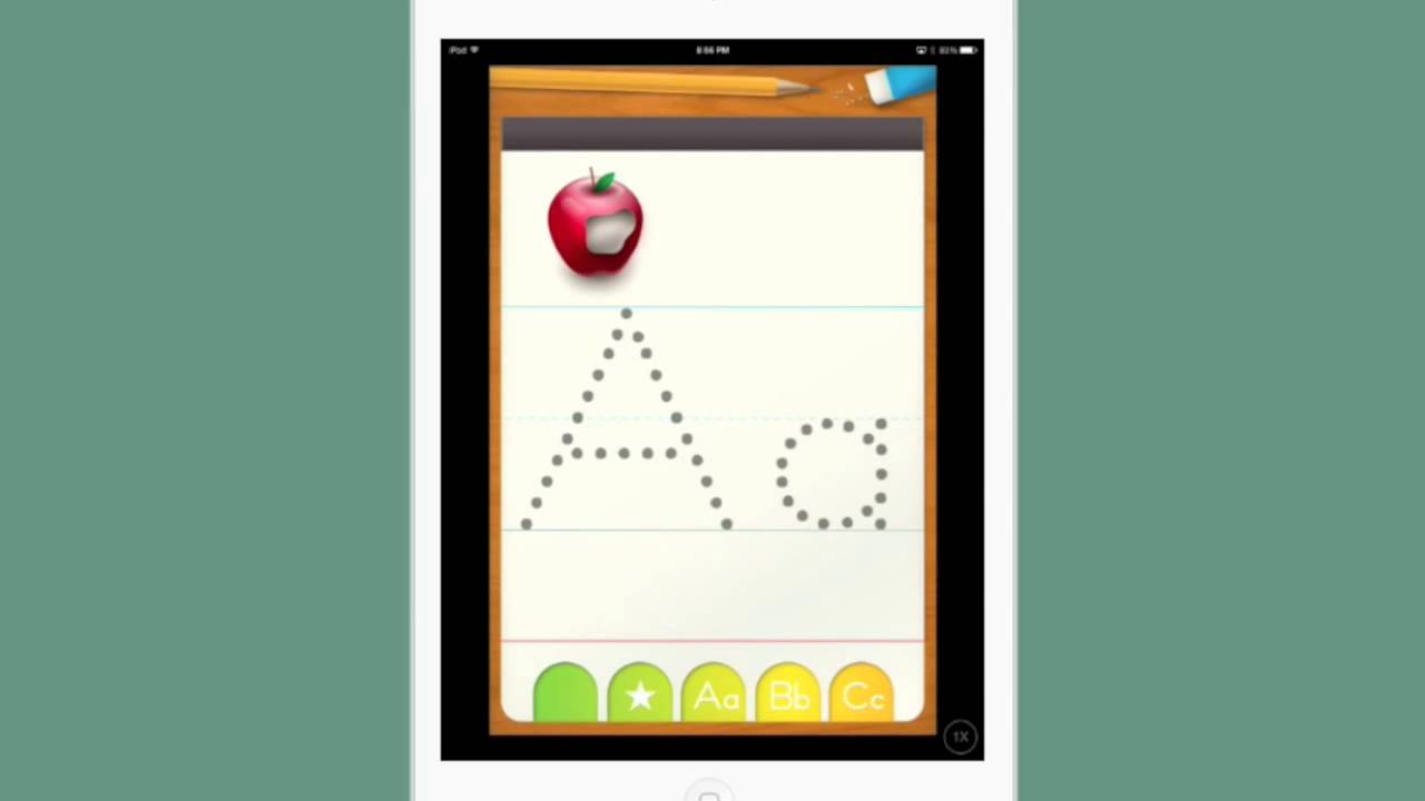 preschoolers learning to write with abc letter tracing