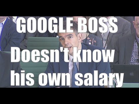 Google UK Boss doesn't know his own salary