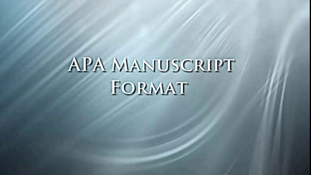 apa format  6th  - microsoft word 2010
