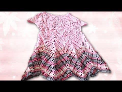 Платье туника крючком от полины крайновой видео