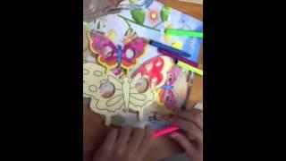 Wooden Butterfly Mask. fun 4 Kids part 2