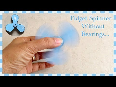 Fidget Spinner out of waste material / DIY / Home Made Fidget Spinner | Priti Sharma