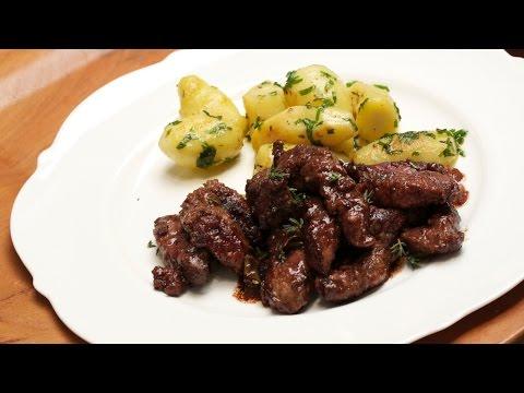 Kalbsleber einfach mit Balsamico zubereiten, Leber braten mit der Chefkoch Anleitung von Thomas Sixt