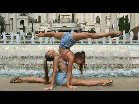 Gymnastics and Acro at Caesars Palace, Las Vegas | Teagan & Sam