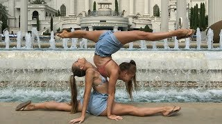 gymnastics and acro at caesars palace las vegas teagan sam