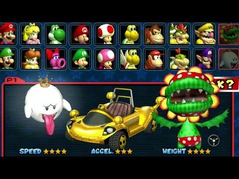 Mario Kart Double Dash All Characters And Karts