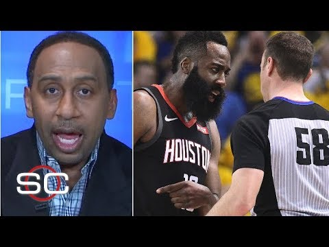 Stephen A. Reacts To Officiating In Warriors' Game 1 Win Vs. Rockets | SportsCenter