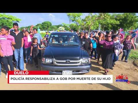 Policía responsabiliza a Gobierno de Nicaragua por muerte de su hijo