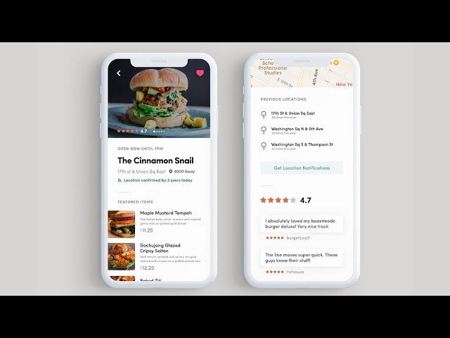 Flutter UI - Burger Truck