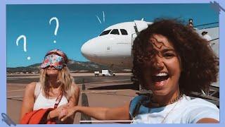 elle prend l'avion sans savoir où on va !