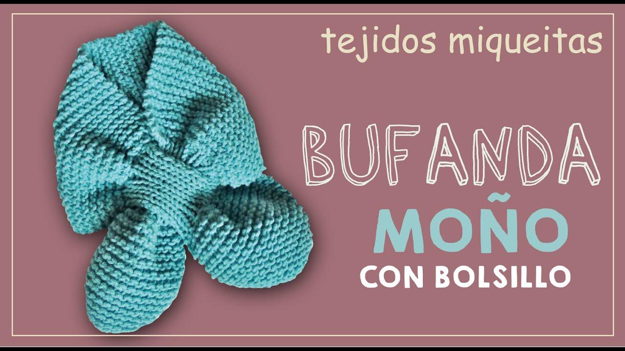 Bufanda moño con bolsillo (Subtitles) - YouTube
