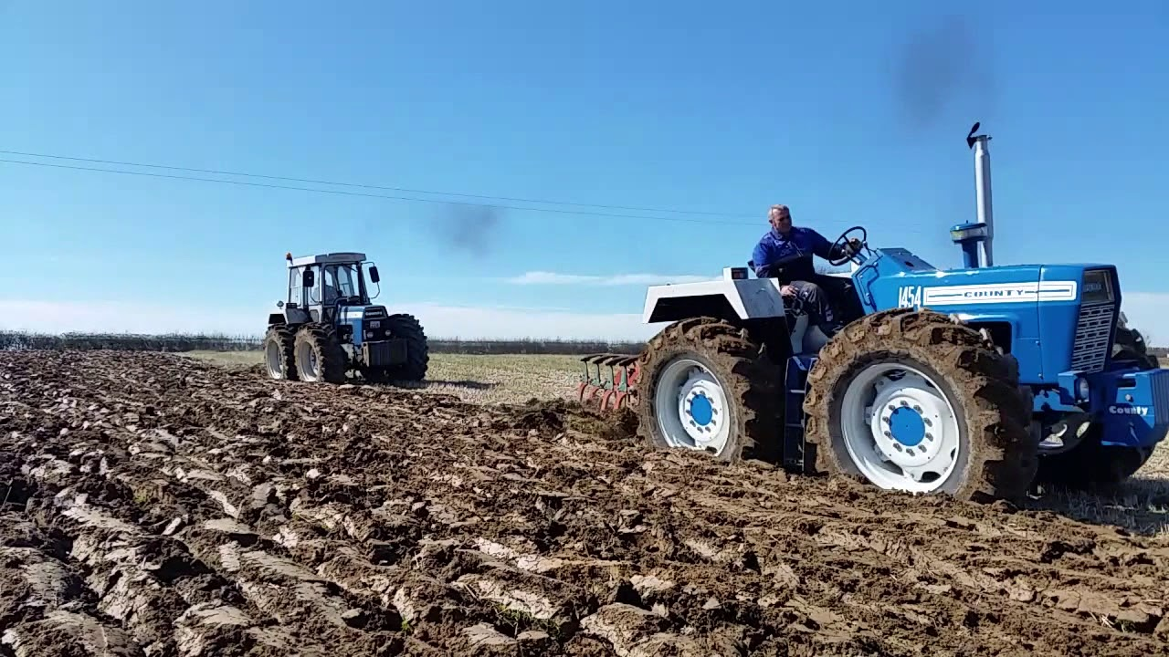 Ford County And Muirhill Tractors Ploughing April