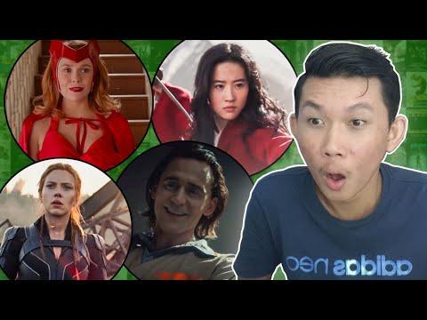 មើល Trailer សរុបចូលគ្នា៖ Black Widow, WandaVision, Falcon & WinterSoldier, Loki, Mulan, James Bond
