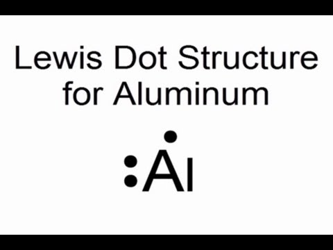 lewis dot structure for aluminum atom  al