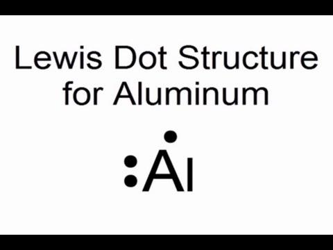 Lewis Dot Structure for Aluminum Atom (Al)  YouTube