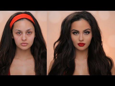 Holiday Glam Makeup & Hair Tutorial