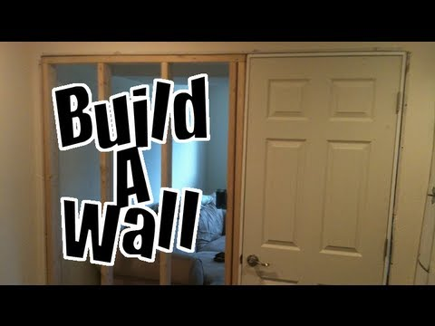 build a wall in a finished basement diy nandemoguy project youtube