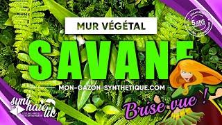 Vidéo: Mur vegetal artificiel savane à 57TTC/M²