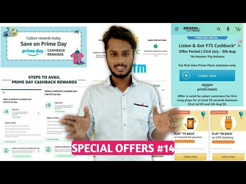 PayTm Video Kyc Complete Process || Amazon Prime Day Coupons Offers || Prime Music Flat 75₹ Cashback