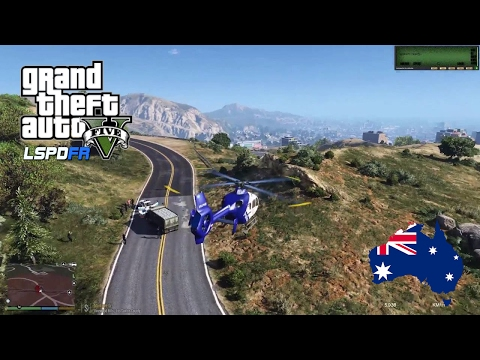 GTA V - LSPDFR Australia - PolAir Helicopter Patrol!