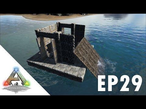 ARK: Survival Evolved S1Ep29 Mobile Trapper Boat Build!!