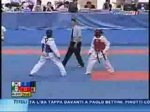 Maria del Rosario Espinoza (peto rojo) Campeonato Mundial 07