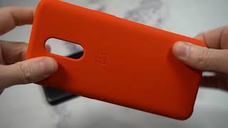 Official OnePlus 6T Silicone Protective Case Red Unboxing and Review