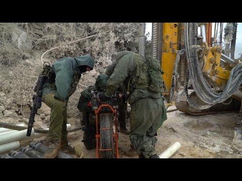 איתור ופינוי מנהרת הטרור שנמצאה בגבול הצפון