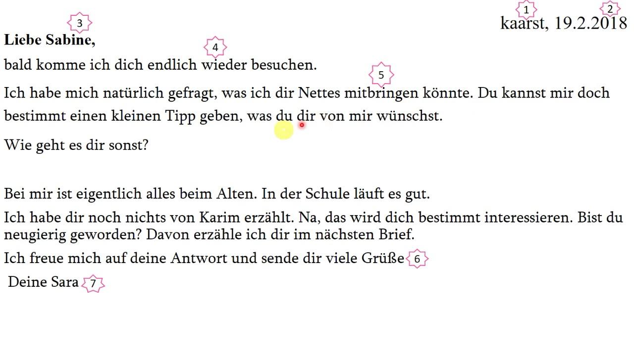Wie Schreibt Man Einen Brief كيفية كتابة رسالة لصديقة باللغة الالمانية مع سارة نجار