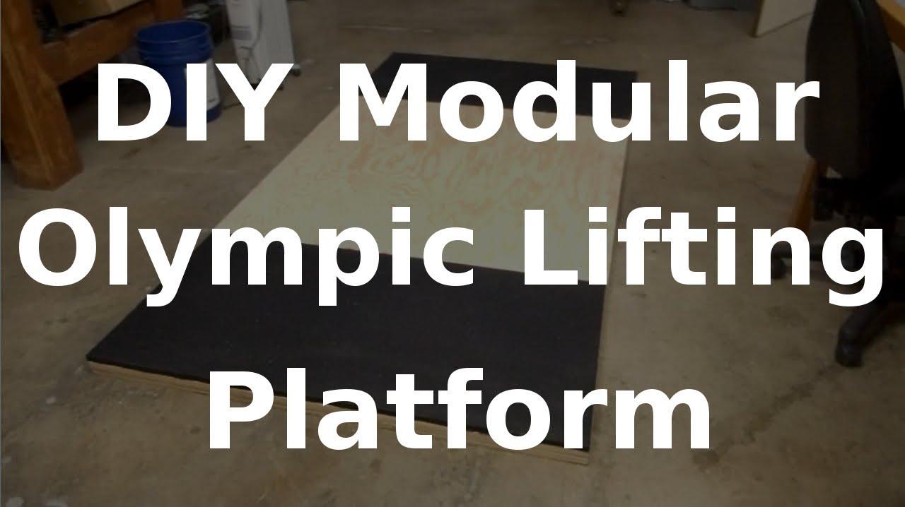Fast hacks diy modular olympic lifting platform youtube