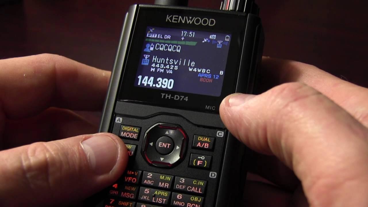 Kenwood TH-D74 APRS & DSTAR Radio