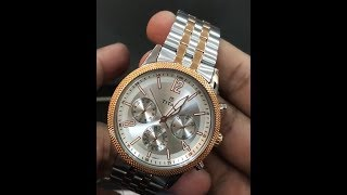 Titan 1734KM02 Neo Two-tone watch Silver Rosegold Analog Watch for Men Titan watches unboxing HD