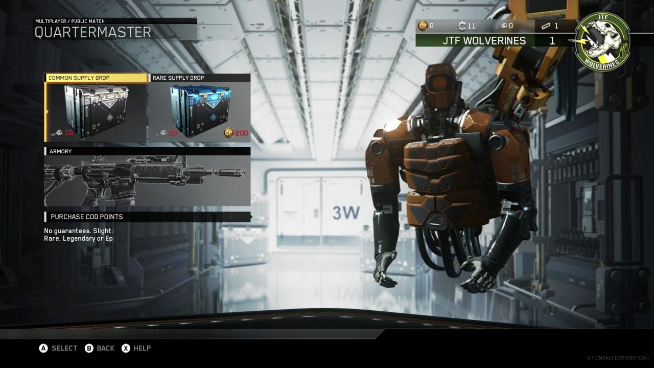 Cod Infinite Warfare Multiplayer Ui Youtube
