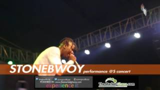 Stonebwoy  performs  #Mightylele @ the S concert