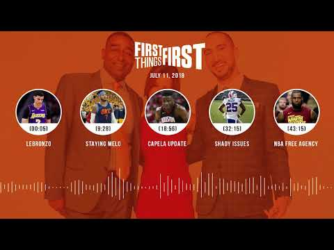 First Things First audio podcast(7.11.18) Cris Carter, Nick Wright, Jenna Wolfe | FIRST THINGS FIRST