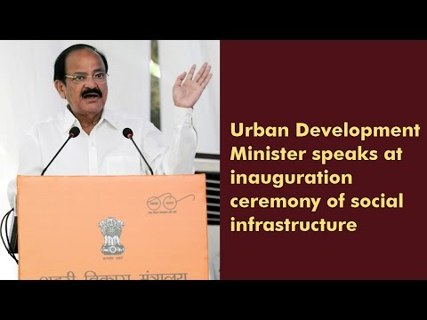 Urban Development Minister speaks at inauguration of social infrastructure