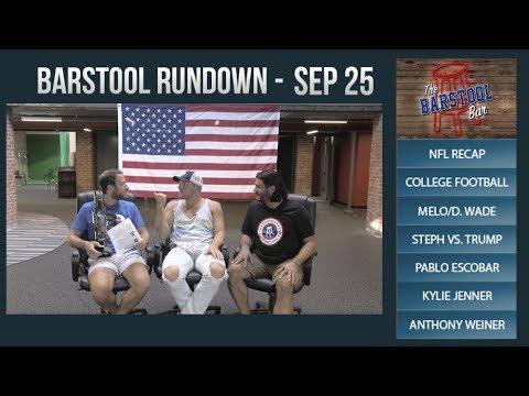 Barstool Rundown - September 25, 2017