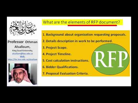 How To Write a Request for Proposal (RFP)? and What are the elements of RFP document?