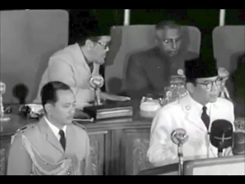 President Sukarno Opening Speech at, the Bandung Conference, 1955, Indonesia