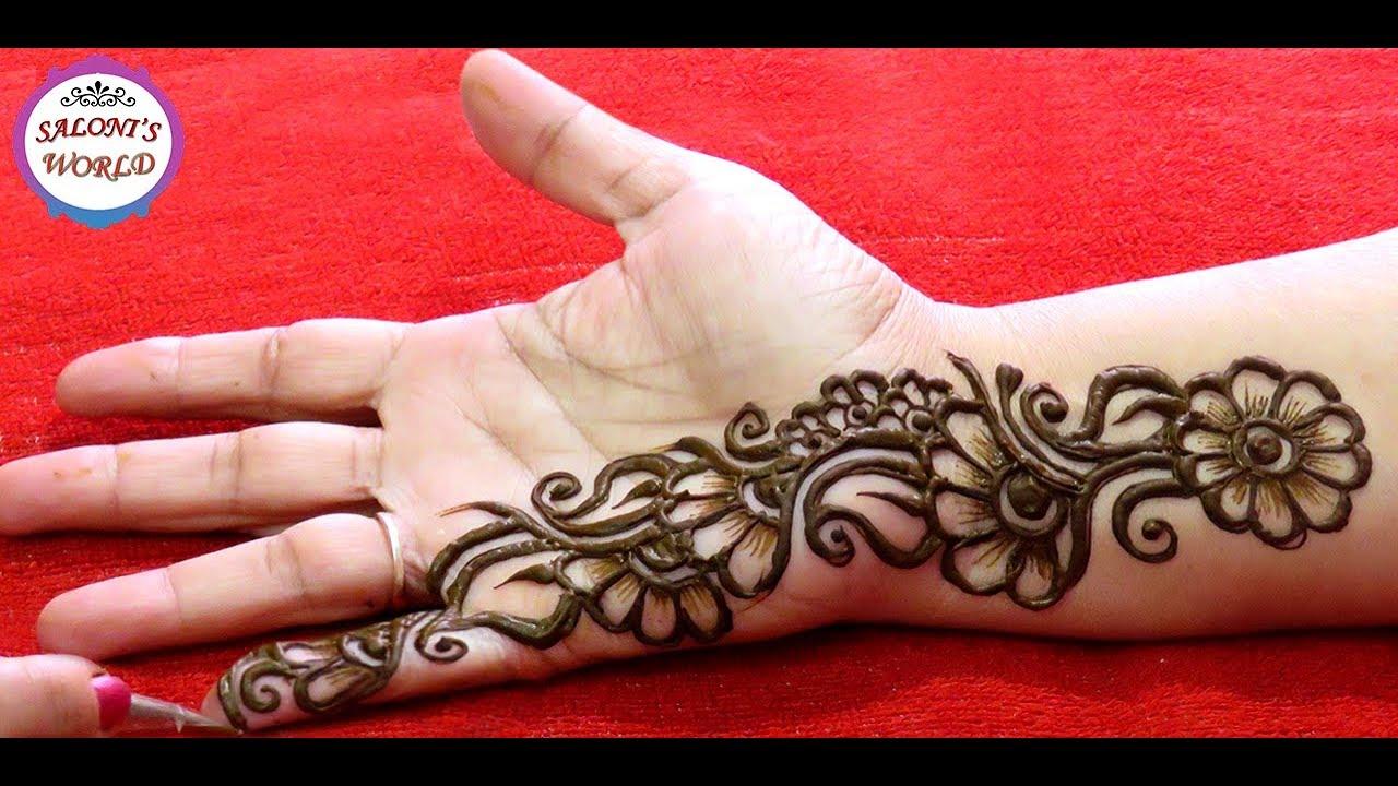Simple Arabic Henna Mehndi Designs 3d Mehndi Designs Gol Tikki