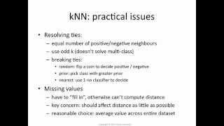 k-NN 5: resolving ties and missing values