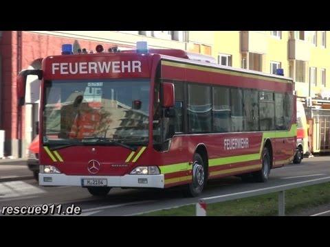 Großübung Richard-Strauss-Tunnel München [1 Stunde Alarmfahrten]