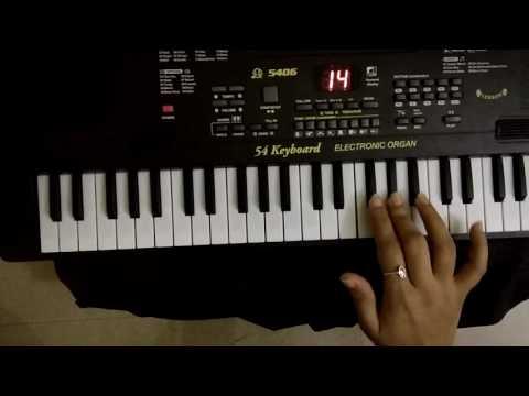 Aaj gagan thi Chandan dhoday re song on keyboard