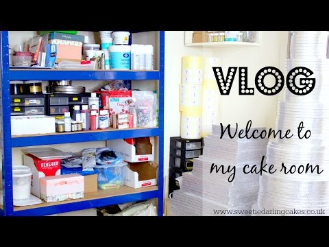 Vlog - A Sneak Peak Behind The Scenes; Welcome To My Cake Room