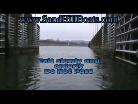 Locking Through the Dam, How to go through the locks at a dam by SandHill Boat Company in Dayton TN