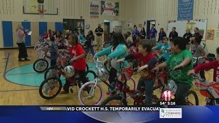 Academy Sports gives 30 North Side Elementary students bikes