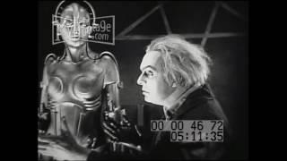 1927 FEMALE HUMANOID MACHINE Stock Footage HD