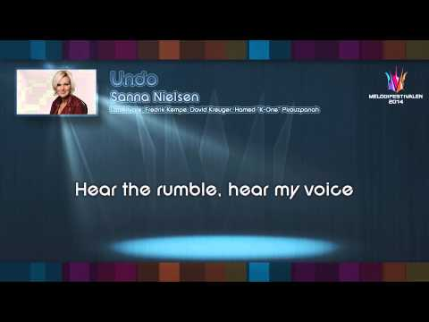 "Sanna Nielsen - ""Undo"" (Instrumental version)"
