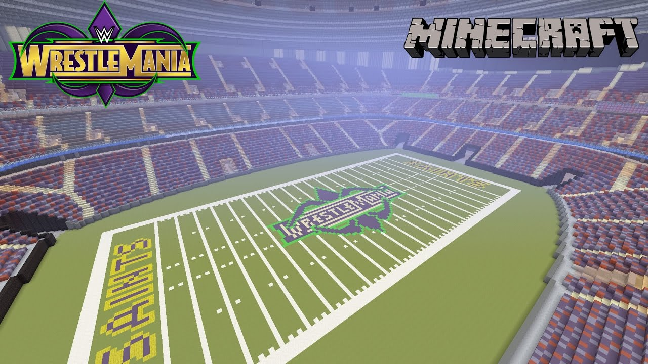 Minecraft mercedes benz superdome the home of wrestlemania for Mercedes benz dome new orleans seating chart