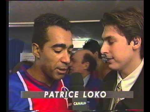 PSG / PARME - 95/96 - interview d'après-match